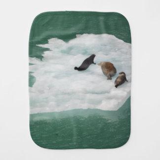 Seals on an Iceberg Burp Cloth