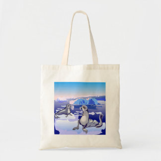 Seals On Ice Tote Bag