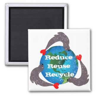 Seals Recycling Square Magnet