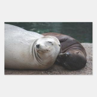 Seals Rectangular Stickers