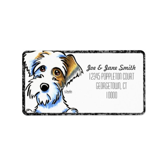 Sealyham Terrier Badger Off-Leash Art™ BK Pencil Address Label