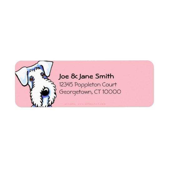 Sealyham Terrier Bubble Gum Pink Return Address Label