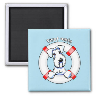 Sealyham Terrier First Mate Square Magnet