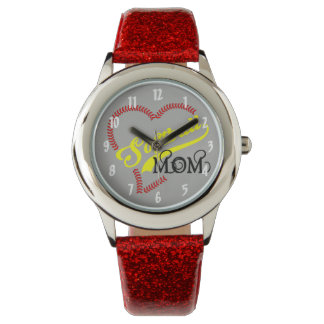 Seam Stitch Heart Softball Mom Seams Ball Fa Watch