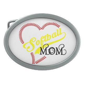 Seam Stitch Heart Softball Mom Seams Belt Buckle