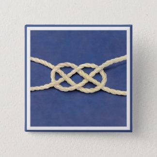 Seamen's Knot - Carrick Bend 15 Cm Square Badge