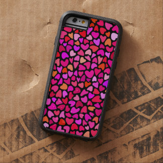 Seamles Colorful Hearts Pattern Love Tough Xtreme iPhone 6 Case