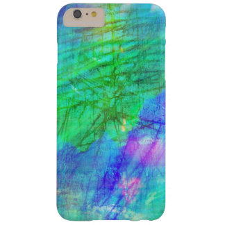 seamless art background watercolor blue, green barely there iPhone 6 plus case