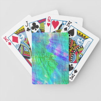 seamless art background watercolor blue, green bicycle playing cards