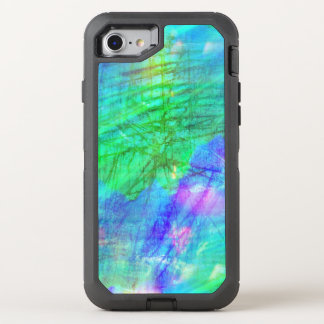seamless art background watercolor blue, green OtterBox defender iPhone 8/7 case