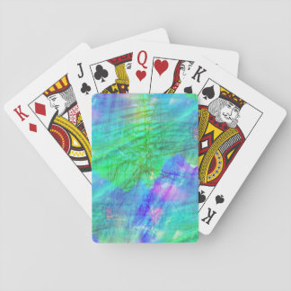 seamless art background watercolor blue, green playing cards
