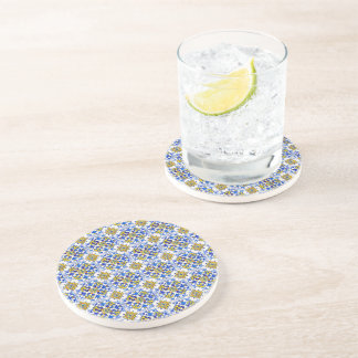 Seamless Azulejo Art Tile Coaster
