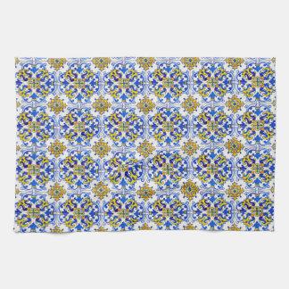 Seamless Azulejo Art Tile Tea Towel