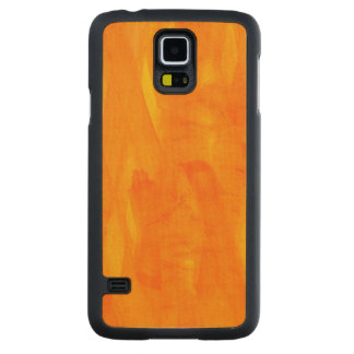 Seamless Background Yellow Abstract Watercolor Carved Maple Galaxy S5 Case