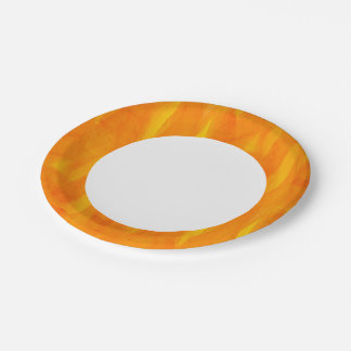 Seamless Background Yellow Abstract Watercolor Paper Plate