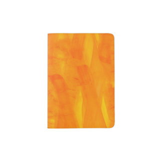 Seamless Background Yellow Abstract Watercolor Passport Holder