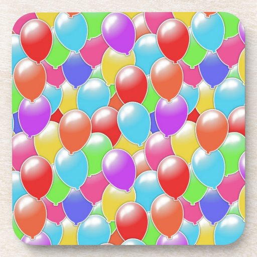 Seamless Balloons Drink Coasters