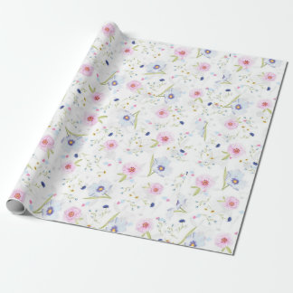 Seamless Beauty Country Flowers Wrapping Paper