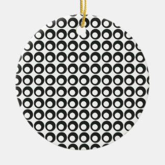 Seamless Black and White Abstract Modern Circles Round Ceramic Decoration