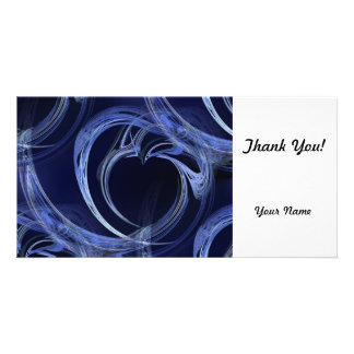 Seamless Blue Fractal Photo Greeting Card