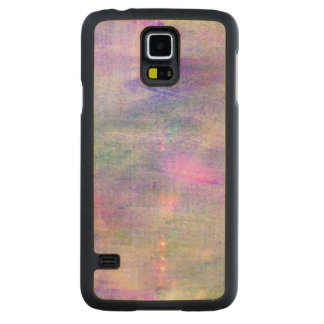 seamless blue, pink background yellow watercolor carved maple galaxy s5 case