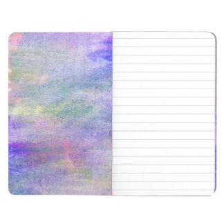 seamless blue, pink background yellow watercolor journal