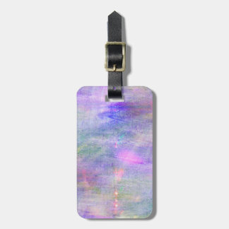 seamless blue, pink background yellow watercolor luggage tag