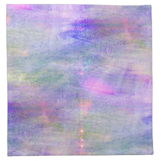 seamless blue, pink background yellow watercolor napkin