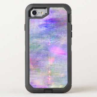 seamless blue, pink background yellow watercolor OtterBox defender iPhone 8/7 case