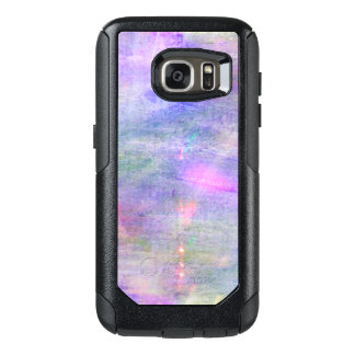 seamless blue, pink background yellow watercolor OtterBox samsung galaxy s7 case