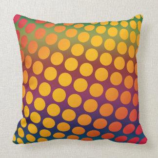 Seamless bright background. Decorative geometric Cushion
