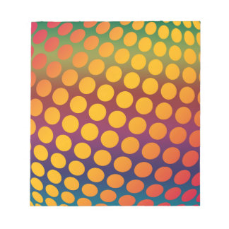Seamless bright background. Decorative geometric Notepad
