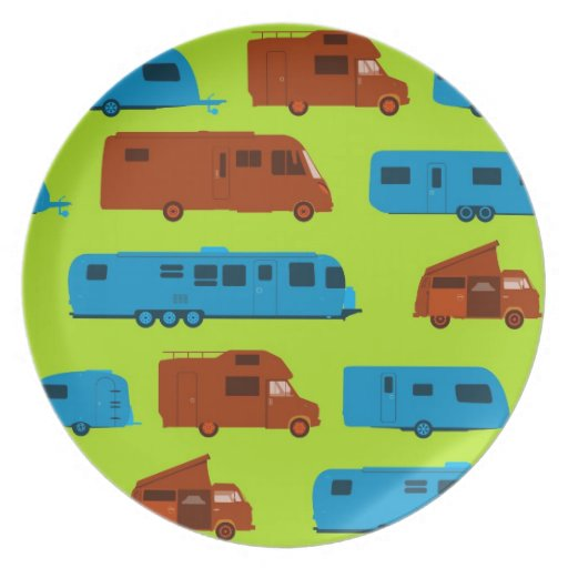 Seamless Caravan Pattern Plates