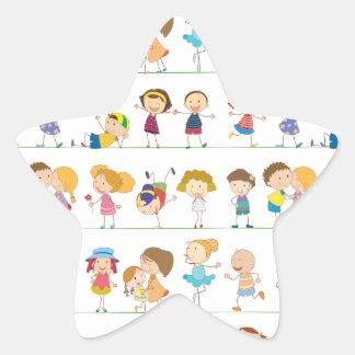Seamless children star sticker