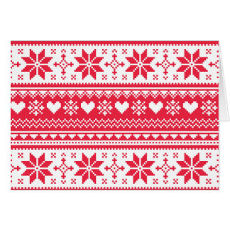 Seamless Christmas card, winter, Scandinavian, ret Card