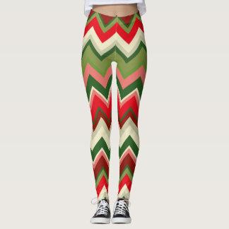 Seamless Christmas Geometric Pattern Leggings