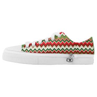 Seamless Christmas Geometric Pattern Low Tops