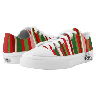 Seamless Christmas Geometric Pattern Low Tops