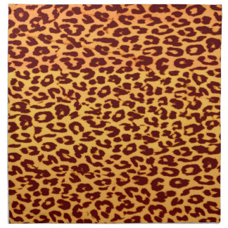 Seamless colorful animal skin texture of leopard napkin