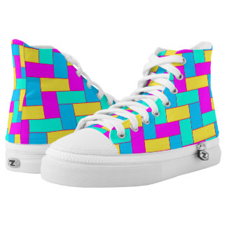 Seamless Colourful Pattern of Symmetric oblong High Tops