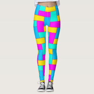 Seamless Colourful Pattern of Symmetric oblong Leggings