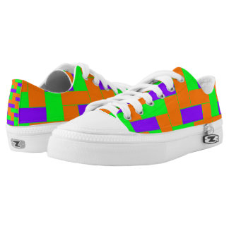 Seamless Colourful Pattern of Symmetric oblong Low Tops