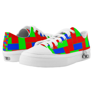 Seamless Colourful Pattern of Symmetric oblong Printed Shoes
