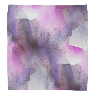 seamless cubism purple abstract art bandana