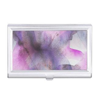 seamless cubism purple abstract art business card holder