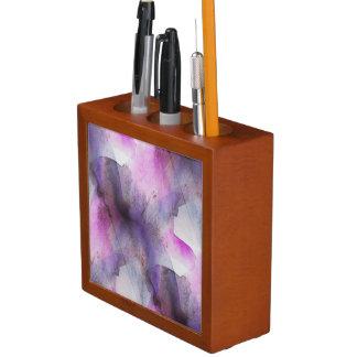 seamless cubism purple abstract art desk organiser