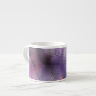 seamless cubism purple abstract art espresso cup
