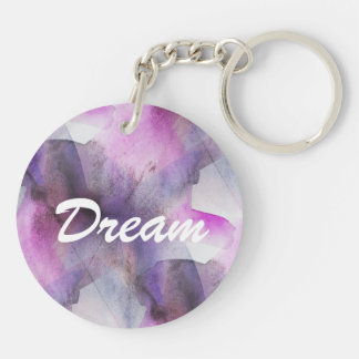 seamless cubism purple abstract art key ring