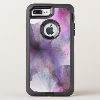 seamless cubism purple abstract art OtterBox defender iPhone 8 plus/7 plus case