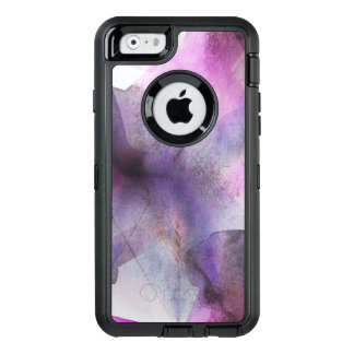 seamless cubism purple abstract art OtterBox defender iPhone case